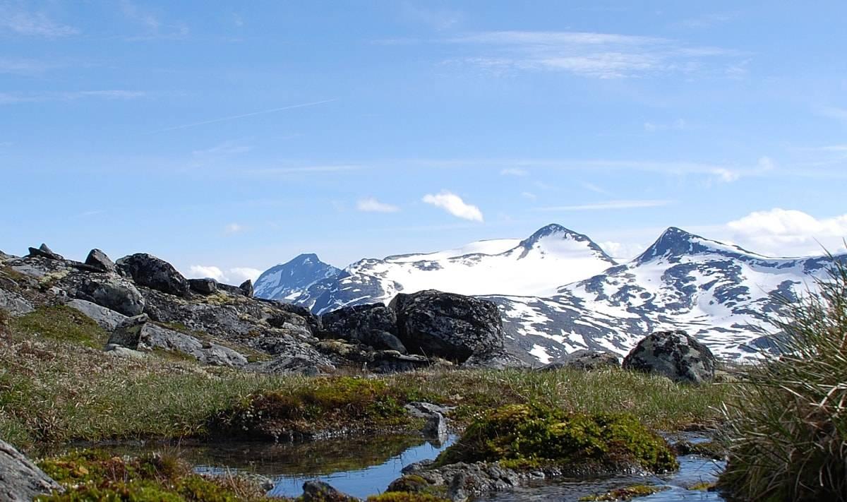 Midtre Høgvagltinden 2066 meter over havet Jotunheimen