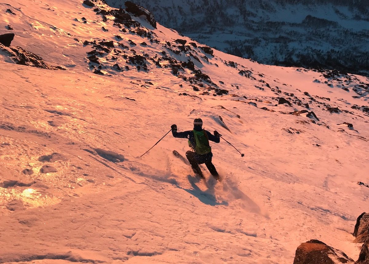 40 DAGER: Ferskt skibilde som viser føret nordpå, 40 dager etter sist snøfall. Bilde: Finn K. Hovem