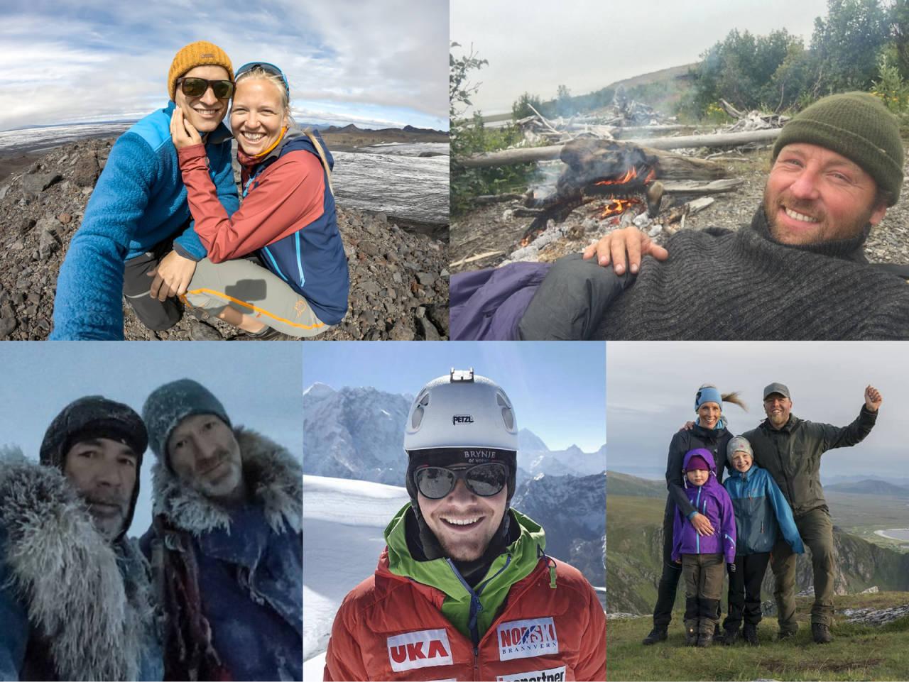 FINALISTENE I ÅRETS EVENTYRER: Even Augedal og Kristina Lund Leivestad, Kjartan Bergsvåg, Børge Ousland og MIke Horn, Thomas Lone og Villmarksfamilien