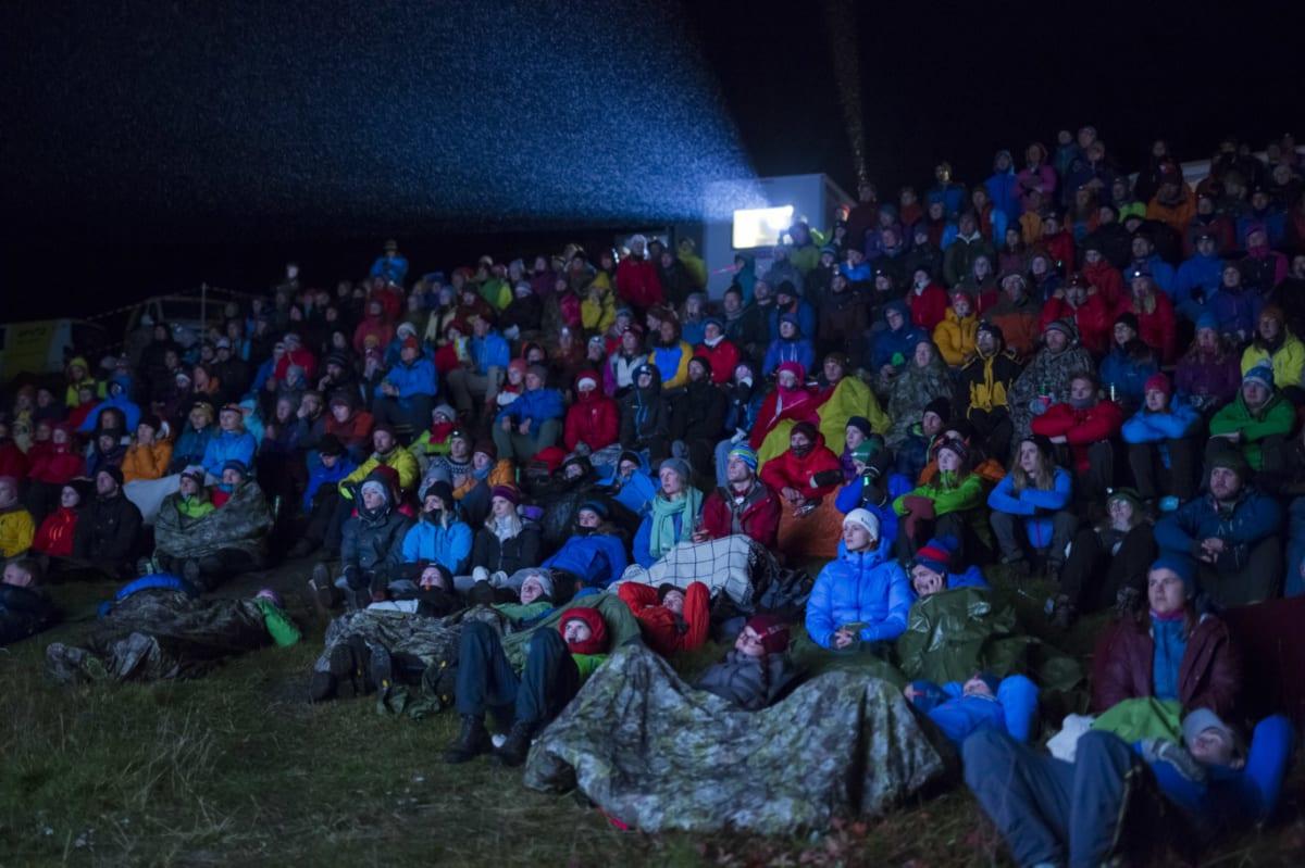 UTEFILM: Fjellfilmfestivalen er klar til start. Foto: Kristine Lindebø