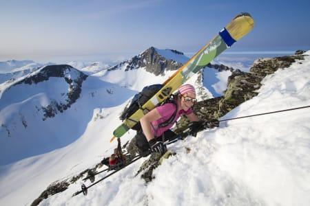 KLYVER TIL TOPPS: Ellen Blom deltok i turklassen. Foto: Daniel Kvalvik