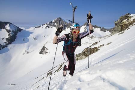 UTENFOR PALLEN: Ove Erik Tronvoll fra Svorkmo Bergknastklivarlaug tok 4.plassen på tiden 2 timer og 34 minutter.