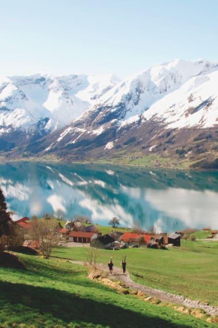 BRA UTGANGSPUNKT: Lite å utsette på omgivelsene i Stryn. Foto: Gunhild Aaslie Soldal