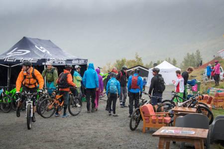 Sykler til utlån var populært blant deltakerne. Rune Hermansen