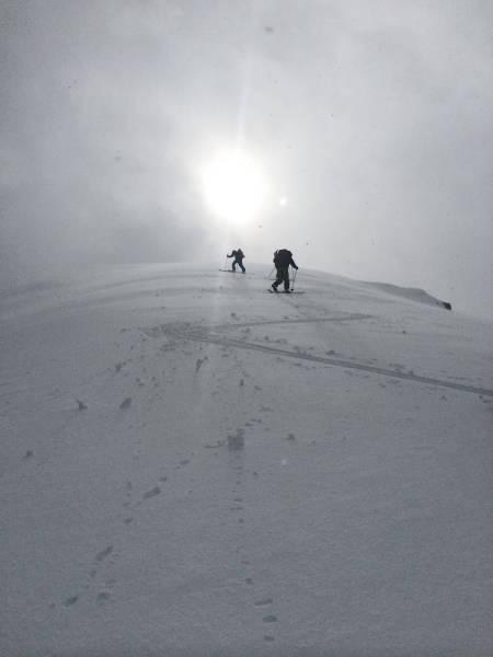 På vei mot Taskedalshornet. Foto: Frøydis Sjøvold