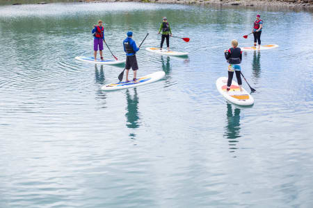 SUP-kurs på Bygdin. Foto: Marte Stensland Jørgensen