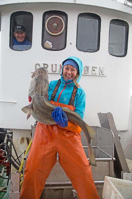 Fornøyd storfisker. Foto: Nils-Erik Bjørholt