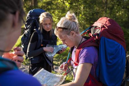Når vi skjønner at Sandungen er for ambisiøst. Neste stopp er Kikutstua, neste post er Middagskollen. Foto: Marte Stensland Jørgensen