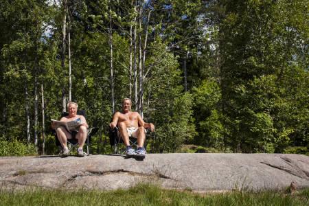 Heiagjeng og tilsynsmenn ved Skjærjøen. Foto: Marte Stensland Jørgensen