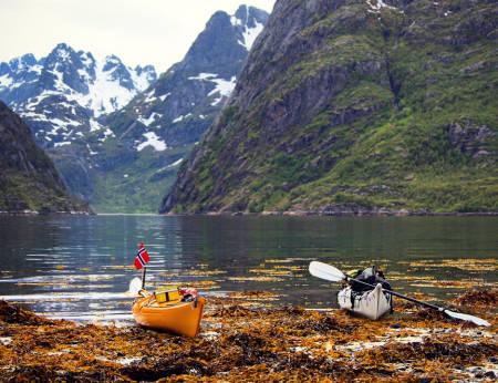 TROLLFJORDEN: Ekteparet Skagøy har allerede pekt seg ut Trollfjorden som en av kajakkturens favoritter.