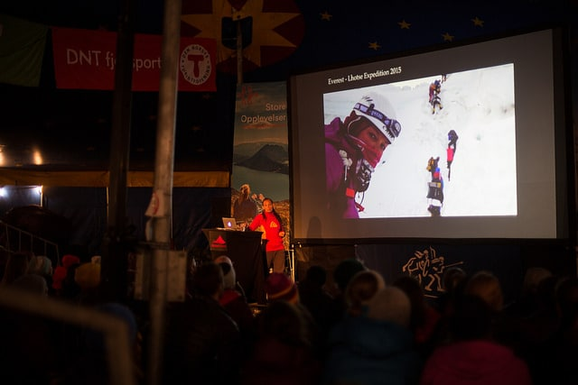 Fra fjorårets Fjellfilmfestival på Gjendesheim. Foto: Marte Louise Sverdrup