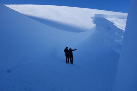 MASSIVT: Skred utløst ved skikjøring i Troms mars 2014. Foto: Kjetil Brattlien