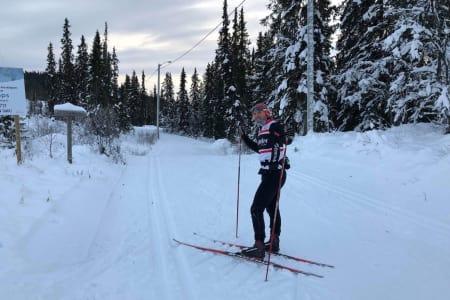 Her er det skiføre nå