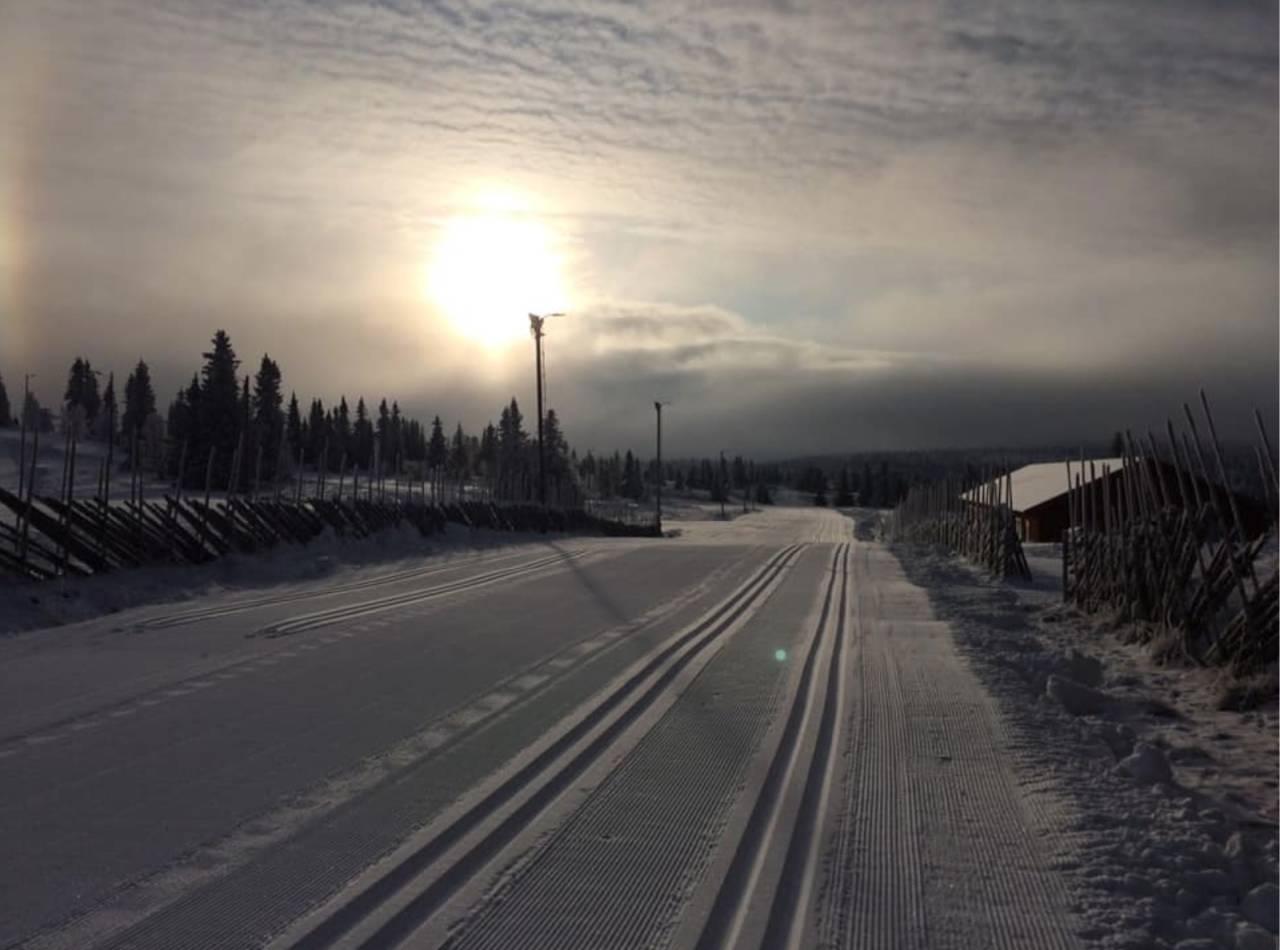 LANGRENNSFORHOLD: Se oversikt over hvor du kan finne skispor nå. Her fra Gålå Turløyper.