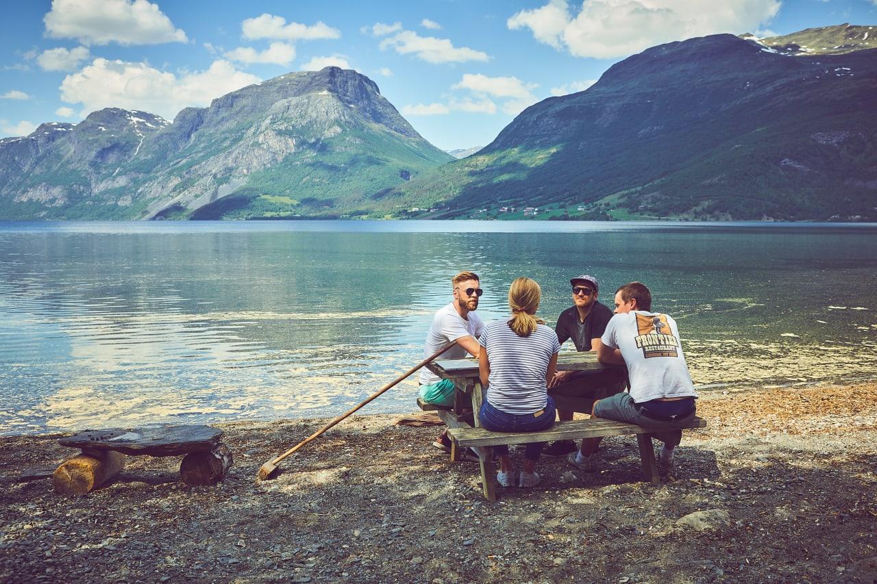 UTEMØTE: Kombinasjonen av utfordrende jobb og aktiv fritid lokket 200 studenter til å søke på 13 sommarjobber i Gudbrandsdalen, Valdres, Hallingdal og Numedal. Foto: Cathrine Dokken