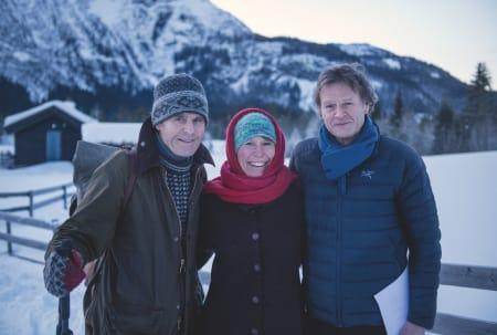 PLANENE KLARE: Nils Faarlund, Tori Snerte og Stein Halvorsen. Foto: Anki Grøthe