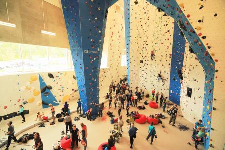 TROMSØ KLATRESENTER: Den nye hallen er ti ganger større enn den forrige. Foto: Stein Tronstad
