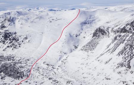 TOPP TUR: Nibbi er et et av de mest populære toppturmålene i Hemsedal. Bildet er hentet fra toppturboka. Foto Espen Schive