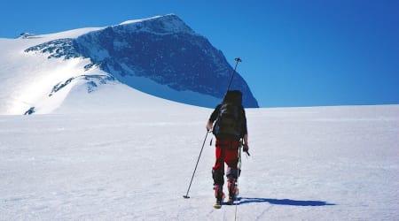 NASJONALSYMBOL: Skitur til Galdhøpiggen. Foto: Trygve Sunde Kolderup