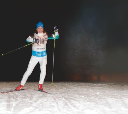 Vil du danse? Siri Halle sammenligner skøyting på ski med å danse. Foto: CappelenDamm