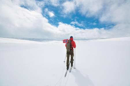 Fra 17.mai på Hardangervidda. Foto: Tor-Erik Sande