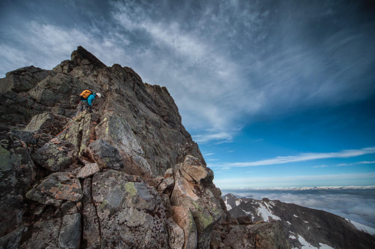 TRAVERSENOVERALLETRAVERSER: Fra Skagastølsryggen,en tur du kan lese mer om i nyeste UTE. Foto: Matti Bernitz Pedersen