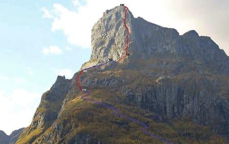 1Hornelen (860 moh) er Norges høyeste sjøklippe. Foto: Visit FjordKysten AS