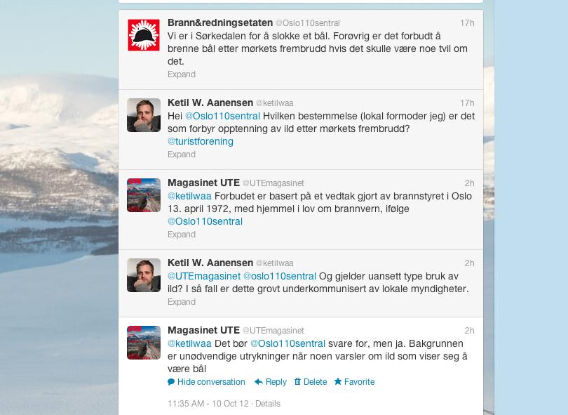 Dagens store spørsmål på Twitter.