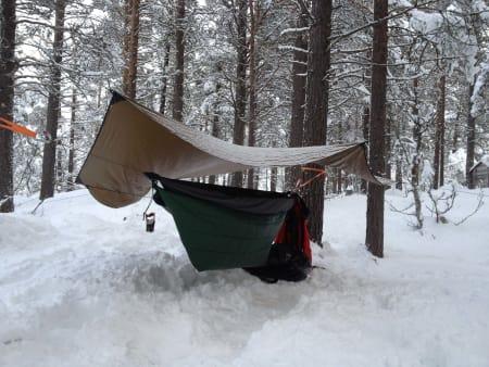 Hengekøyeliv vinterstid er også fullt mulig. Foto: Sverre Mørk