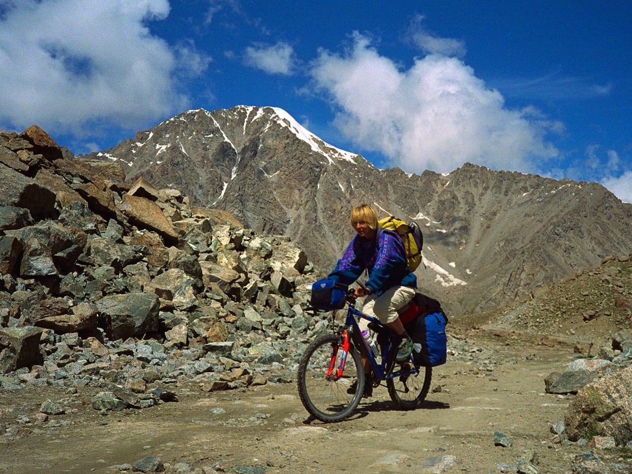 Gerda Maria Pauler på sin reise gjennom Nepal. Foto: Ulrich Schroeder