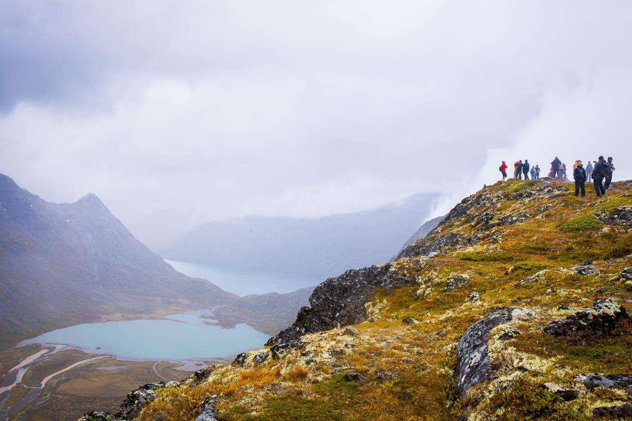 Fra lørdagens tur på Knutshøe. Foto: Marte Stensland Jørgensen