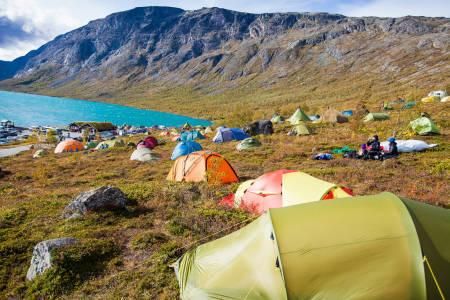 Festivalcampen ved Gjendeshiem i Jotunheimen. Foto: Thor Håkon Ulstad