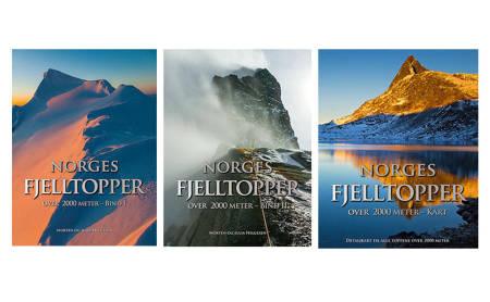 Norges fjelltopper over 2000 meter, Bind l, ll og kartkompendium . Forfatter: Julia og Morten Helgesen. Forlag: Glittertind