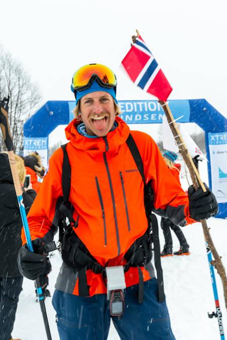 KJENT SKIKKELSE: Vinner av herrenes individuell klasse ble Gjermund Nordskar med tiden 28.12.02. Foto: Mikkel Beisner Photography/Xtremeidfjord