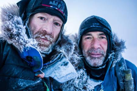 TILBAKE I NORGE: Børge Ousland (t.v.) og Mike Horn er nominert til Årets eventyrer. Foto: Børge Ousland