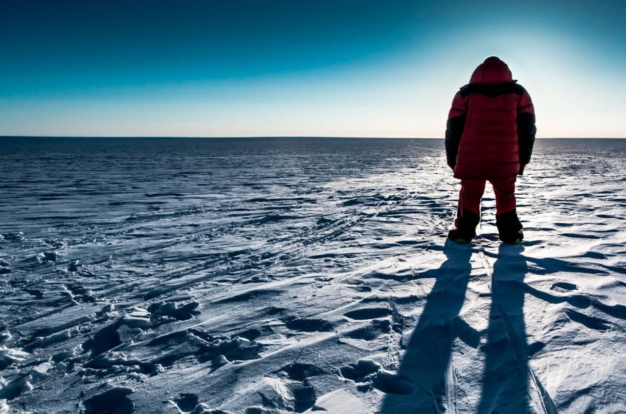 Den store mannen og den enda større isen.