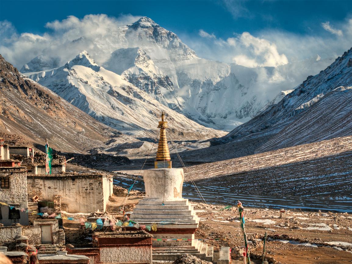 8848 meter høye Mt. Everest er verdens høyeste fjell, og dit skal fem deltagere bli med Hvitserk i vår. Foto: Hvitserk