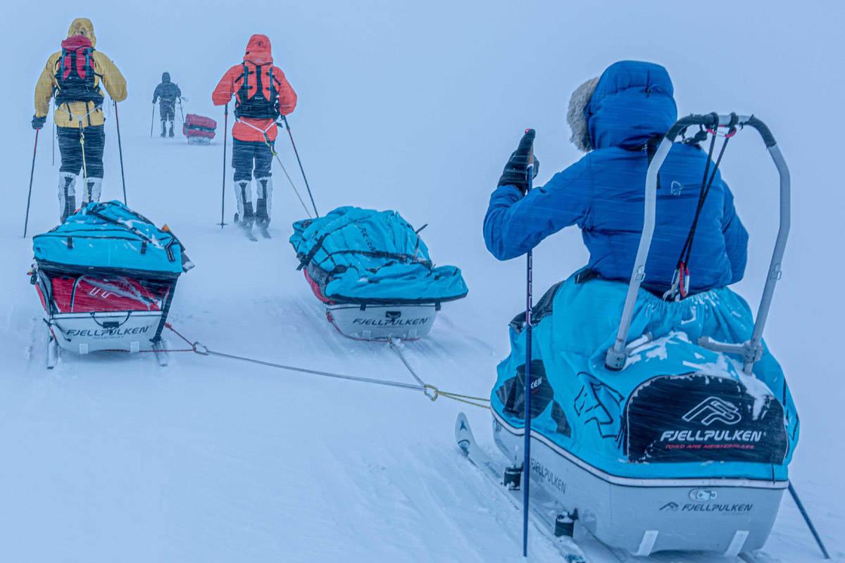 Grønlandsdruamen på øvingstur som generalprøve før avreise. Foto: Grønlandsdraumen