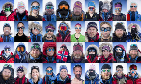 Vanlige mennesker i vanlige jobber betaler i dyre dommer for å gå i Nansen sine fotspor. For en hverdag som stort sett består av å gå på ski, spise og sove. Foto: Line Hårklau