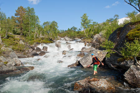 SNØSMELTING: Vår i Børgefjell nasjonalpark.