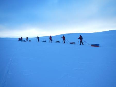 Deltakere på vei mot målgang. Foto: Ida Eri Sørbye