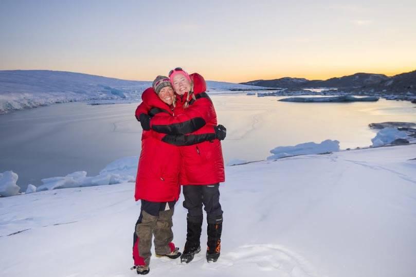 Linda Eirin Eiken og Therese Moe Øye. Foto: Christian Styve