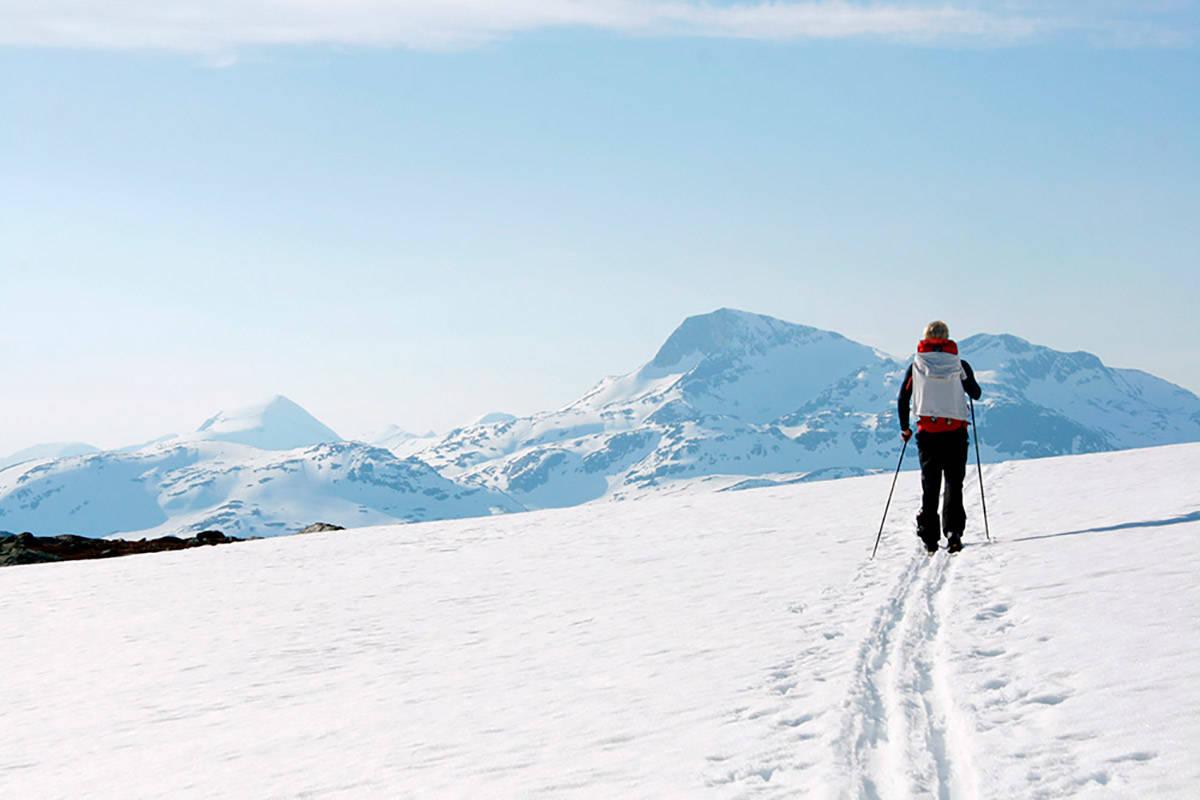 VÅRTUR: Trekanten i Trollheimen er et populært turprosjekt, sommer som vinter - som vår. Foto: Marie Brøvig Andersen