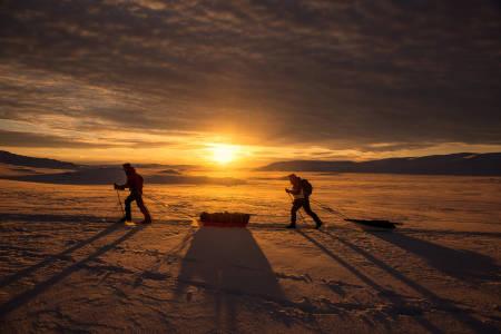 EXPEDITION AMUNDSEN: Ekspedisjonsløpet går over Hardangervidda, fra Haukeliseter til  Maurset i Eidfjord. Foto: Kai-Otto Melau