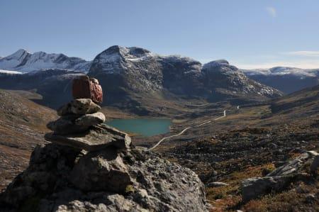 Utsikt overfor Trollstigen. Foto: Sandra Lappegard