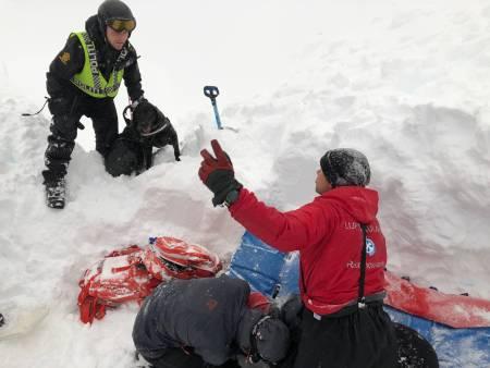 kameratredning skredet ved trollfjordhytta Trond løkke