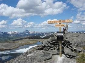 Kjerringfjellet er en av toppene du må oppom under Meråker Mountain Challenge.