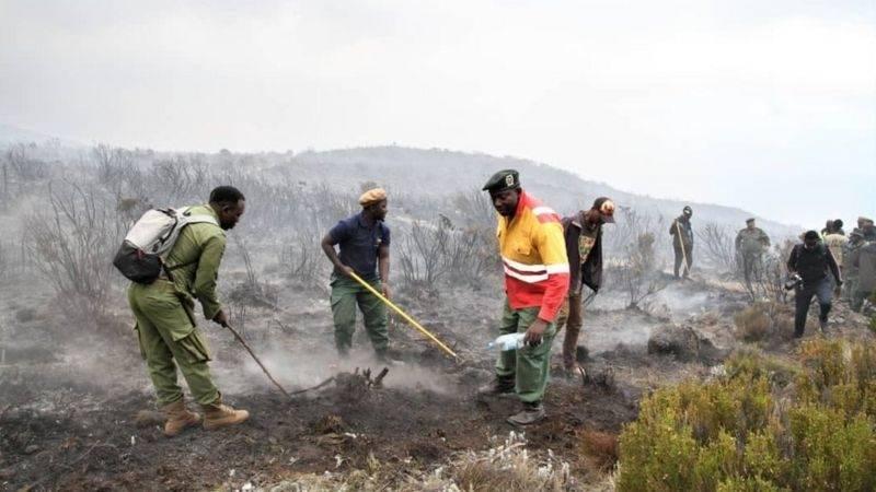 brann på kilimanjaro
