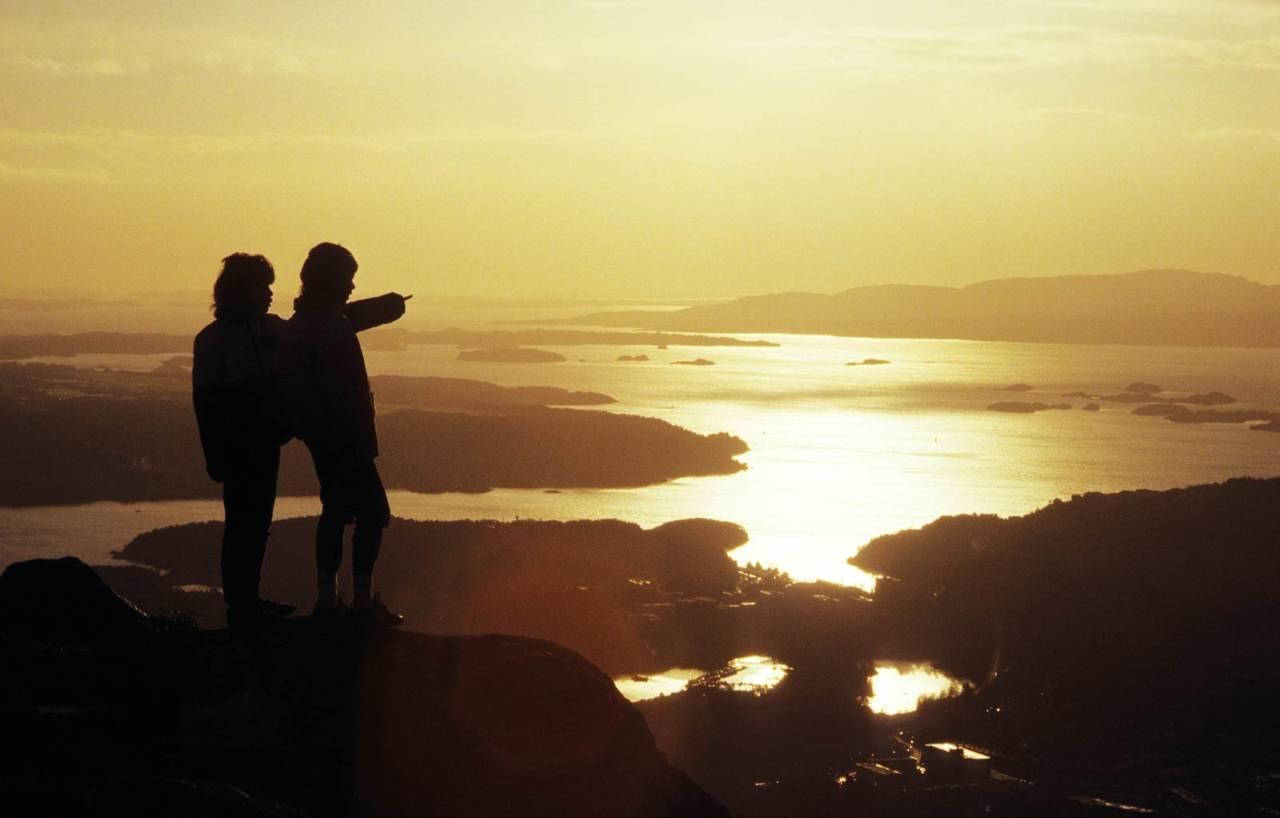 fjelltur til Lyderhorn Foto: Helge Sunde