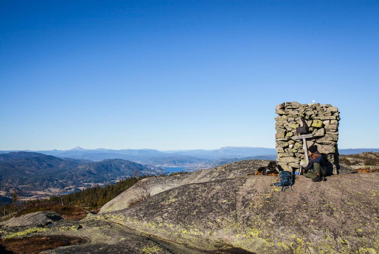 Narefjell er en skjult liten perle i Telemark, delt mellom Skien og Sauherad kommune.